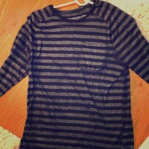 John Varvatos long sleeve stripped t shirt